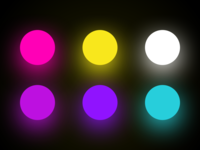 Neon Lights Color Pallet