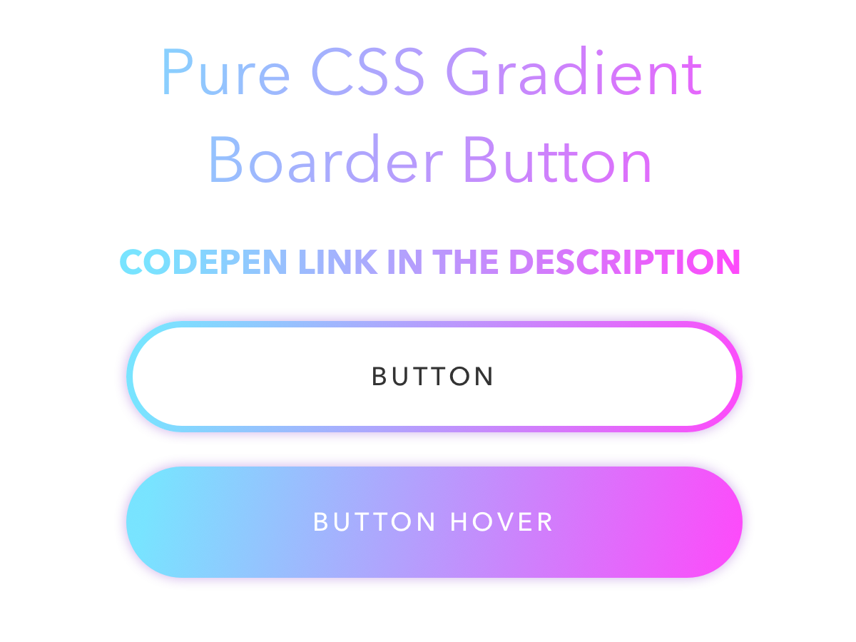 Gradient Boarder Button color branding ux gradient design gradient button gradient color gradient button codepen css ui typography black amethyst design blue pink purple