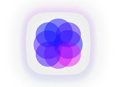 Ultra Violet App Icon minimal gem illustration web branding ux vector ui jewel amethyst design blue pink app concept purple ultra violet violet logo icon app
