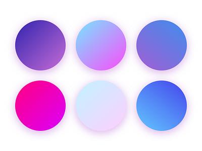 Gradient Set color pallete gradient gradient design branding vector ui moon violet logo night jewel gem amethyst illustration design blue pink purple