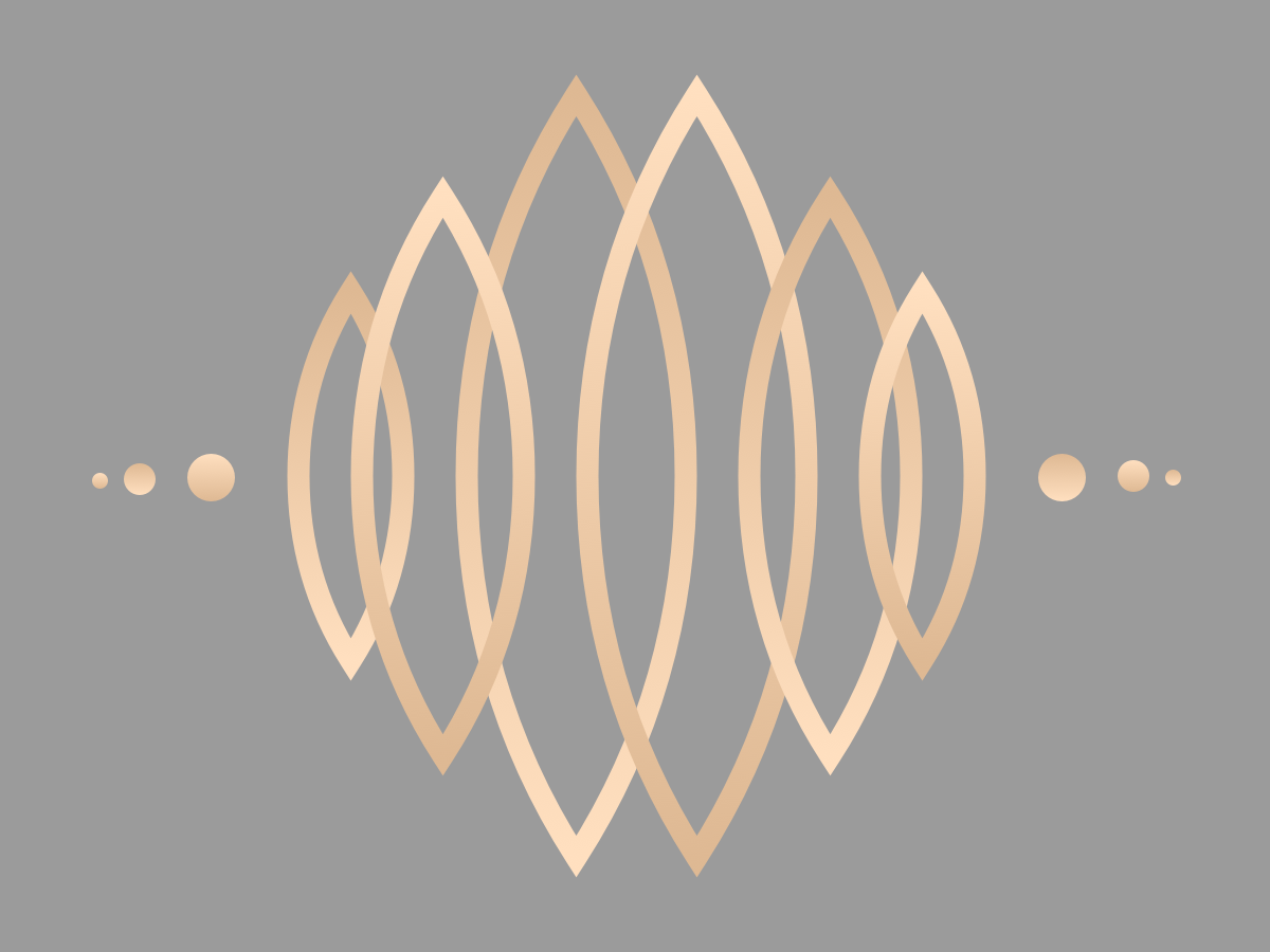 Synergy gradient branding agency branding vector illustration logo metal shiny gold rose gold grey metalic
