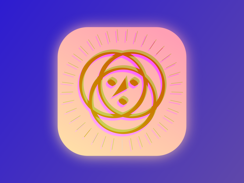Optical Illusion App Icon branding blue app web icon yellow vector violet ui ux logo gold purple design pink illustration color pallete 3d pretty optical illusion