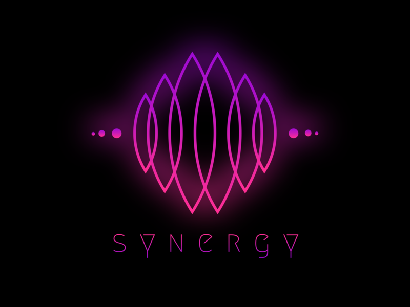 Synergy type website flat animation icon ui branding agency branding and identity neon colors neon light neon hot pink ux illustration web typography vector logo branding design