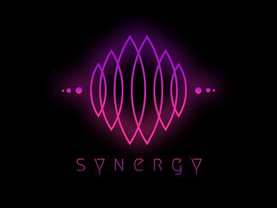 Synergy type website flat animation icon ui branding agency branding and identity neon colors neon light neon hot pink ux illustration web typography vector logo branding design