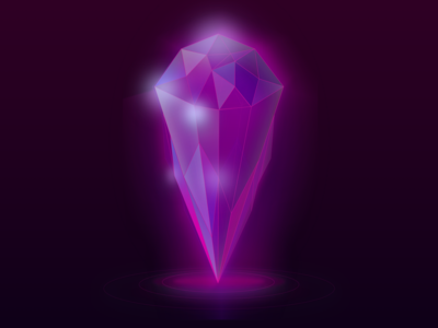 Magenta Crystal Light