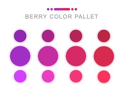 Berry Color Pallet purple web interface berries summer inspiration web design application red webdesign app design pink hot pink purple gradient blue berry colorful design colorful colorsandfonts colors palette color
