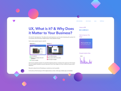 Amethyst Blog Post blog posts blog design blog post blog website web app blue purple business ux ux design typography web design branding