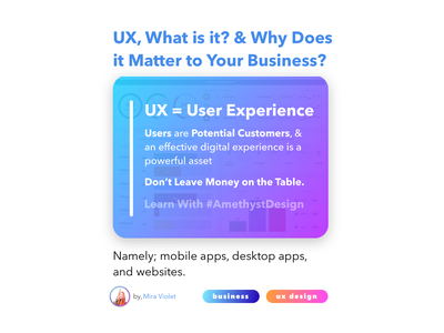UX, What is it? & Why Does it Matter to Your Business? uidesign websites webdesign desktop app desktop design app design app website design website concept uxui ui  ux ux design business user interface design user experience userinterface uiux ui web website