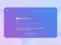 Amethyst Hero design gem gradients gradient web design agency branding agency website agency amethyst web typography branding blue purple