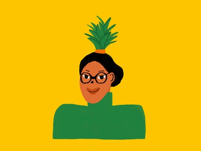 Pineapple Bun pineapple illustration