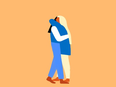 A Hug women hug illustration