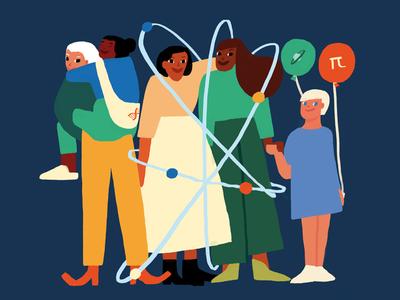 International Day of Women and Girls in Science ilustración children barcelona science girls women illustration