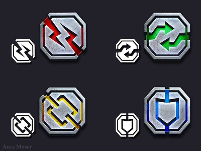 Dominion Map Icons icons ui photoshop illustrator games vectorart illustration vector illustration vector icon