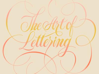 The art of lettering script spencerian handlettering