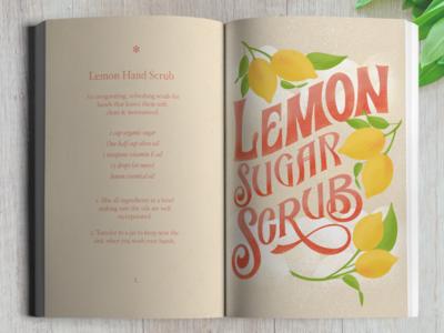 Lemon Sugar Scrub Illustration and Recipe