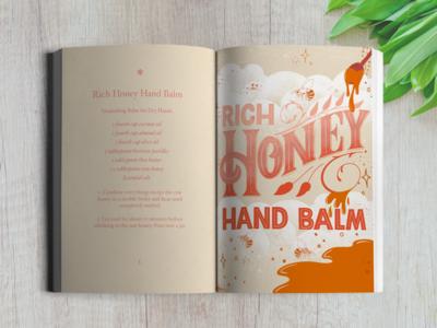 Rich Honey Hand Balm recipe and Illustration