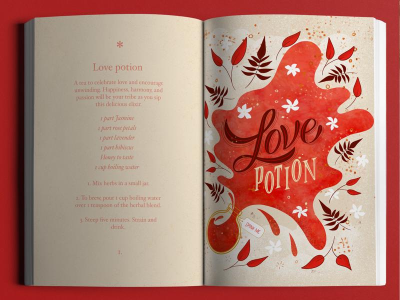 Love Potion Illustration and Recipe