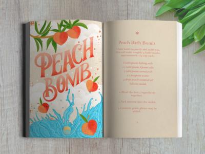 Peach Bomb Illustration and Recipe