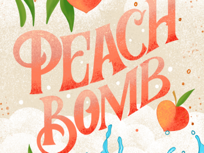 Close up from Peach Bomb Illustration