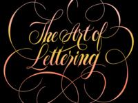 The Art of Lettering illustration calligraphy spencerian script hand lettering