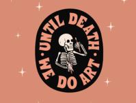 Until Death We Do Art lettering letters procreate design type hand lettering typography illustration art