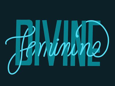 Divine Feminine durga navaratri type typography hand lettering lettering procreate