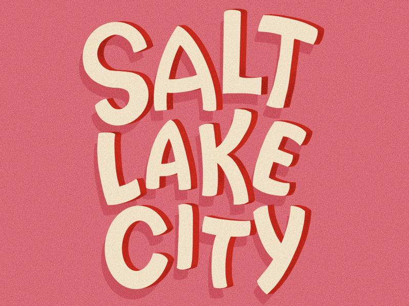 Salt Lake City dimensional letters procreate graphic design design handlettering