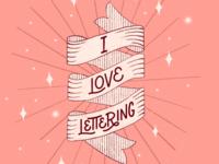 I 🖤 Lettering