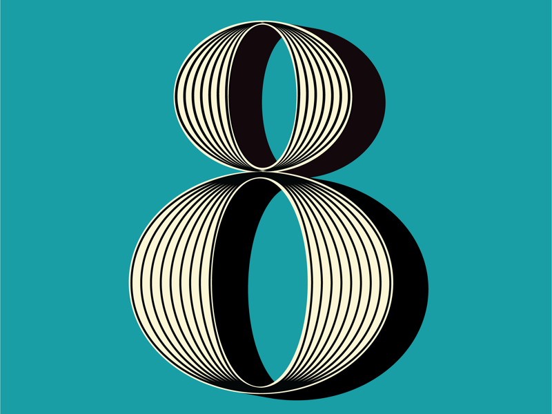 Number 8 eight numbers illustration 36daysoftype2019 36daysoftype
