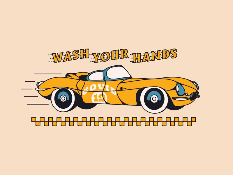 COVID-19 soulsightsharesjoy soulsightsharesjoy illustration corona car logotype typography covid19 wash your hands