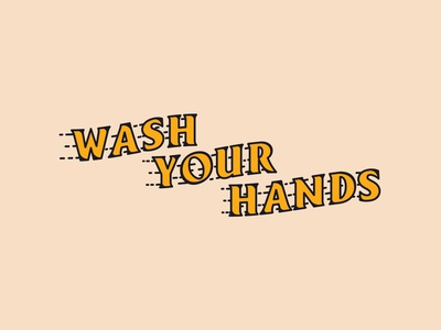 Wash Your Hands illustration fast vector typography