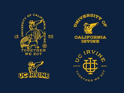 UC IRVINE logo anteater old monogram mascot sports vintage