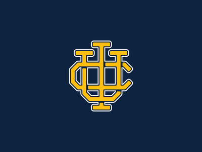 UC Irvine | Monogram anteater typography lettering type vintage sports old monogram mascot logo