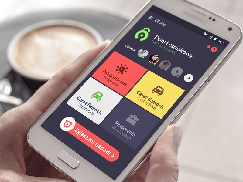 Dione App - Main Screan safety security visual design app ios android ui uiux mobile app mobile interface user interface usability