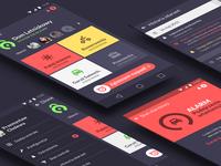 Dione App - All screens