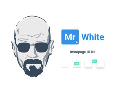 Mr White Uikit art product design instapage user interface uikit