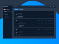 Instapage Dashboard   Dark Mode
