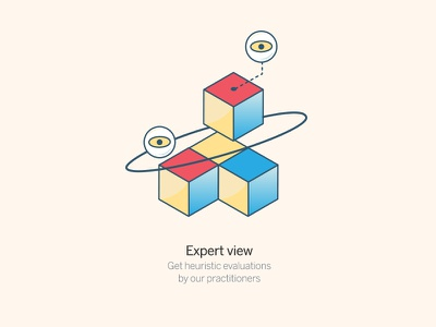 Expert view section website evaluation expert eyes cube data blocks heuristic