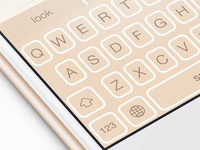 Gold Keyboard Theme for Themeboard