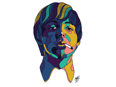 Paul McCartney website mccartney beatles hero ipad illustration drawing