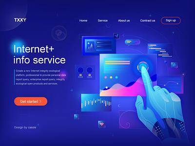 Internet+ info service banner webillustrator