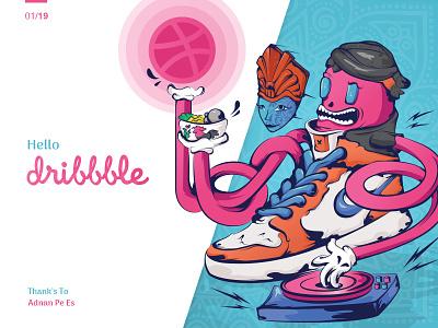 Java Sneakers Eaters vector design illustration