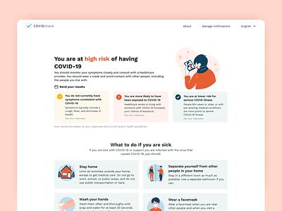 CovidCheck - Website web design health covid 19 covid check covid test covid19 covid illustration design ui ui design