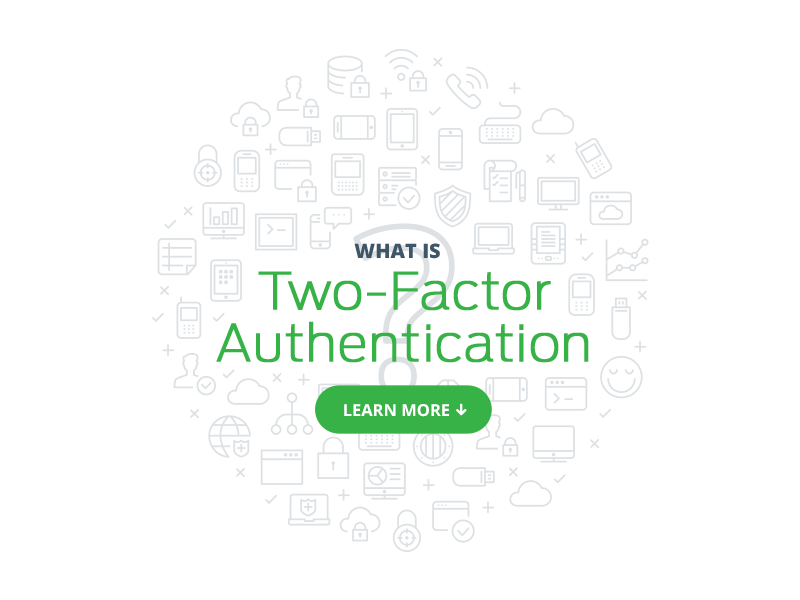 What Is Two-Factor Authentication flat clean design open sans antenna gray green what is icon cloud icon