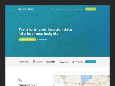 Data Mapping Company Homepage open sans montserrat blue green home