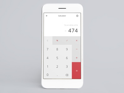 Calculator UI design dailyui004 004 dailyui photoshop calculator design calculator app calculator ui mobile app mobile uidesign uiux ui