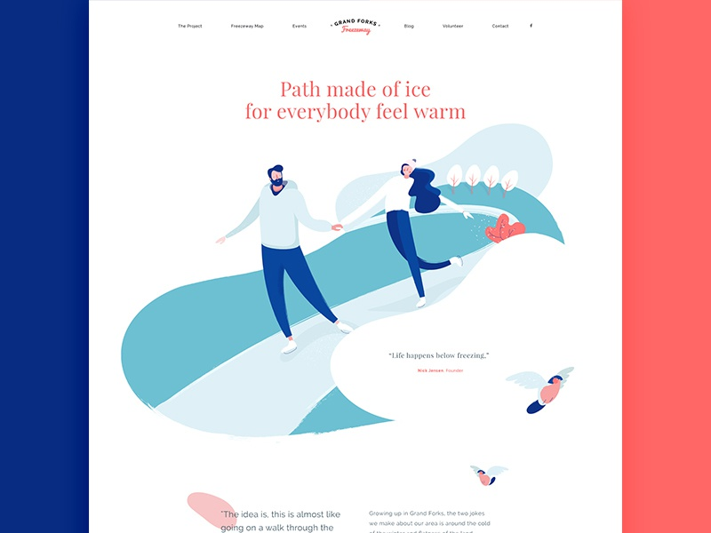 Illustrated Homepage