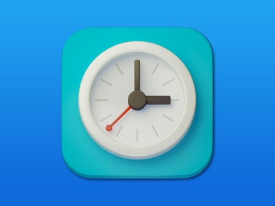 3. Clock minimal illustration 3d art 3d design icon photoshop blender3d adobe photoshop b3d