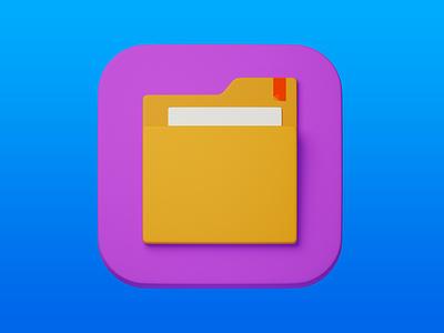 4. Folder minimal 3d art 3d design icon illustration photoshop blender3d adobe photoshop b3d