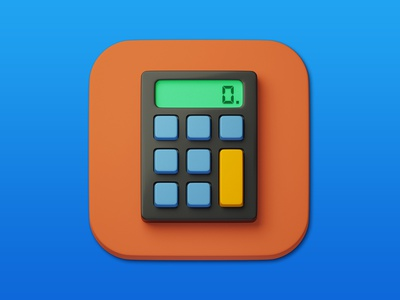 6. Calculator 3d art 3d minimal illustration design icon photoshop blender3d adobe photoshop b3d